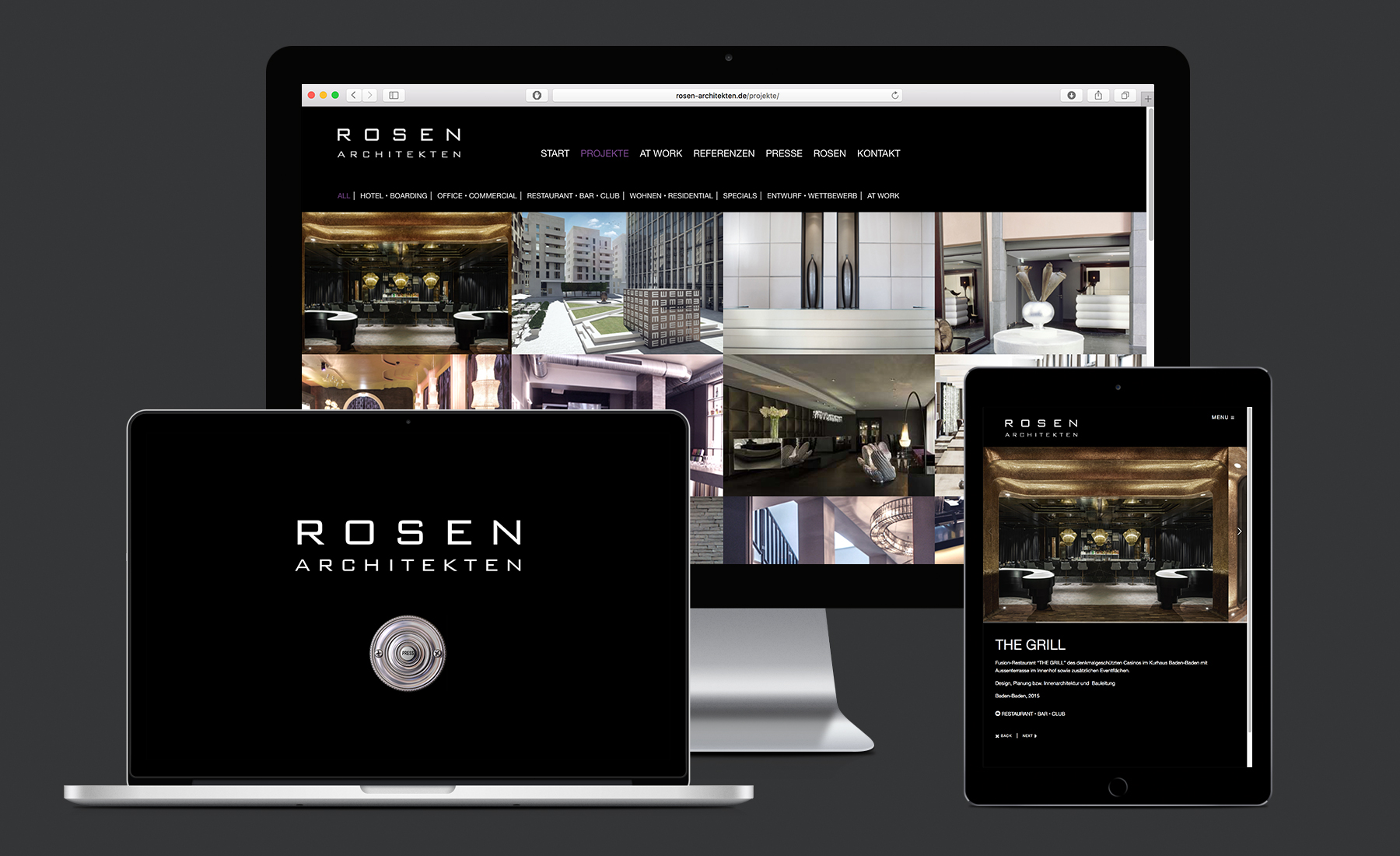 Rosen Architekten Website